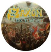 Saxon - 'Rock the Nations' Button Badge